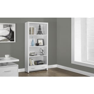 White 4-tier 71-inch Bookcase