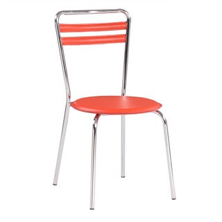 Somette Catlin Chrome Bistro Dining Chair (Set of 4)