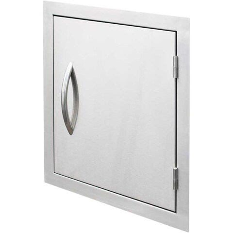 Cal Flame Outdoor Kitchen 18 in. Stainless Steel Vertical Storage Door