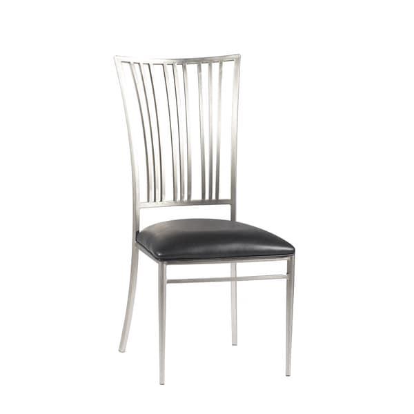 Somette Ashton Black Fan Back Dining Chair (Set Of 2)