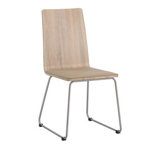 Somette Amelia Light Oak Wood Panel Back Side Chair (Set of 4)