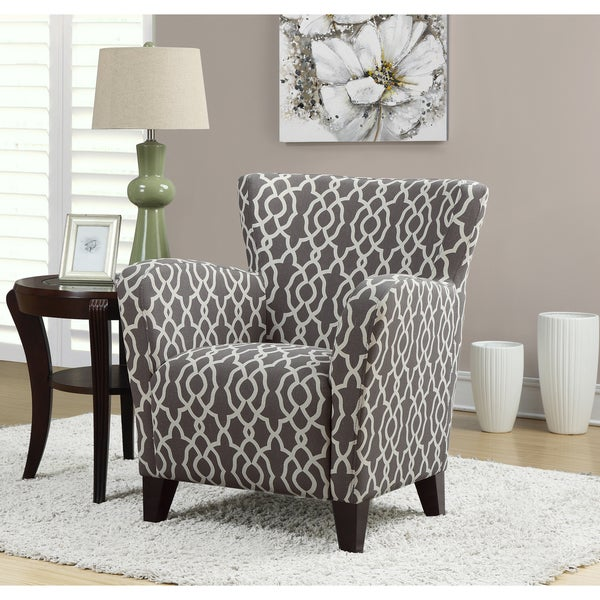Europa Brown Bell Pattern Fabric Club Chair Free Shipping Today Overstock