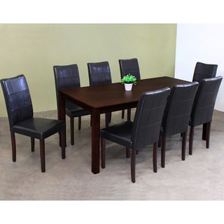 Warehouse of Tiffany Eveleen Black 9-piece Dining Set