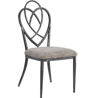 Somette Lexis Designed Back Metal Side Chair (Set of 4)