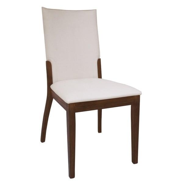 Somette Luisa Dark Walnut/ Cream Upholstered Back Dining Chair (Set Of 2)