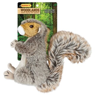 Westminster Pet Products Woodlands Multi Fabric Large Plush Squirrel Dog Toy