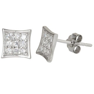 Decadence Sterling Silver Cubic Zirconia Stud Earrings
