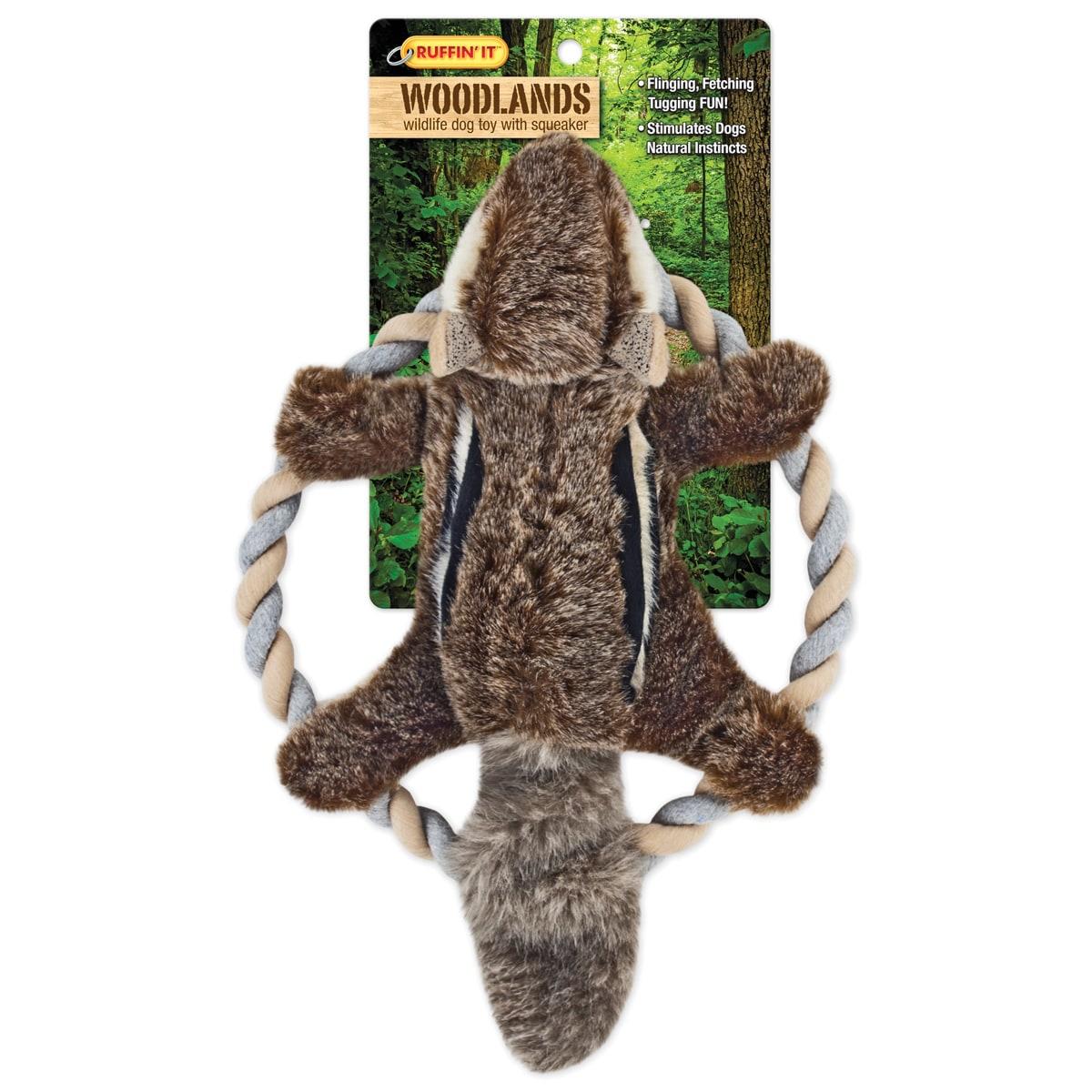 Westminster Woodlands Plush Chipmunk Rope Ring Tosser Dog...