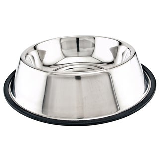 Stainless Steel Non-Skid Dish 64oz-