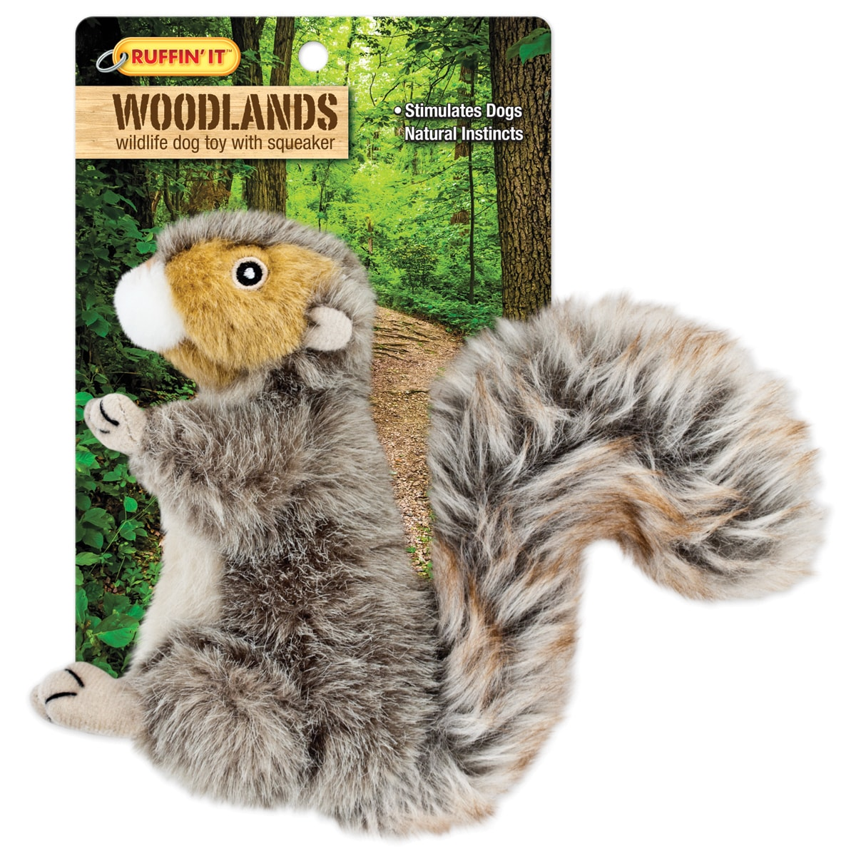 Westminster Woodlands Small Plush Squirrel Dog Toy- (squi...