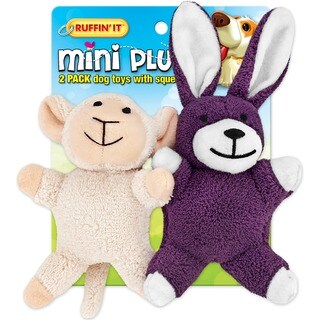 Mini Plush 2-piece Puppy Toys Lamb and Bunny