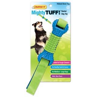 Mighty Tuff Ribbed Bone Tug Dog Toy-