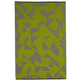 Santa Cruz Lime/ Grey (4' x 6')