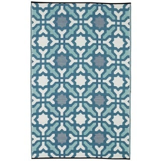 Handmade Seville Recycled Indo Multicolor Blue Rug (4' x 6')