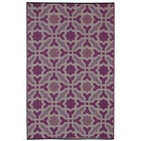 Seville Indo Multicolor Purple Recycled Rug (4' x 6') - 4' x 6'