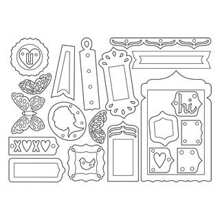 Sizzix Thinlits Dies 22/Pkg-Fancy Base/Layering Shapes