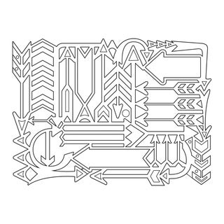 Sizzix Thinlits Dies 1/Pkg -Arrow Card Front/Layering Shapes