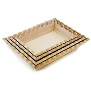 "Paintable Wood Trays 4/Set-4.5""X7.25"" To 7""X9.75"""