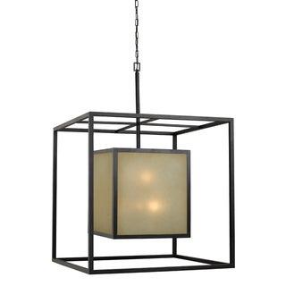 Hilden 12-light Aged Bronze Square Hanging Pendant