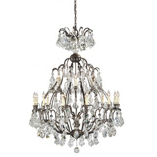 Timeless Elegance 18-light Bronze Hanging Chandelier
