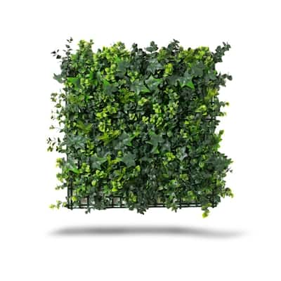 Indoor/Outdoor Mixed Artificial Outdoor Foliage Wall Panels (Set of 4) - Green