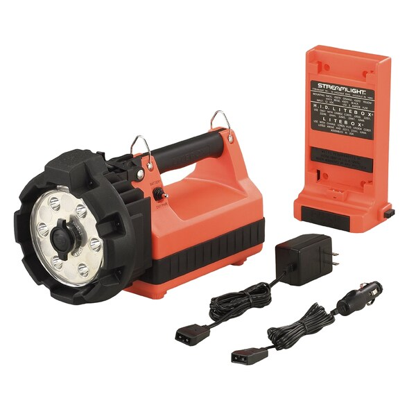 E-Flood Litebox Hl Standard 120V Ac 12V Dc Orange