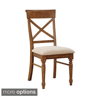 A La Carte Pine RTA Upholstered Seat Side Chairs (Set of 2)