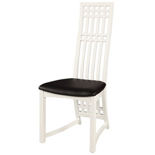 Somette Margaux Birch Wood Gloss White High Back Side Chair (Set of 2)