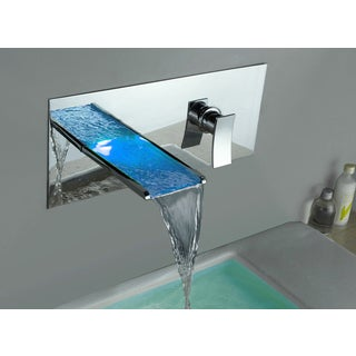 Kokols Color Changing LED Chrome Waterfall Tub Faucet
