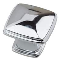 GlideRite 1.25-inch Polished Chrome Square Deco Cabinet Knobs