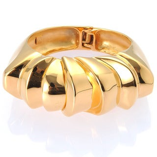 De Buman 18k Yellow Gold Plated Bangle