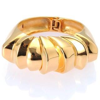 De Buman Yellow Gold Plated Bangle