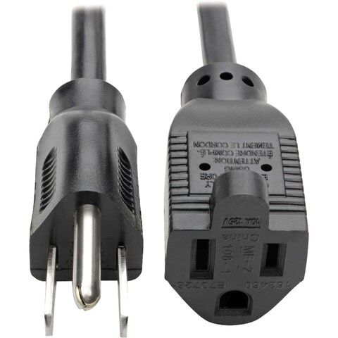 Tripp Lite 10ft Power Cord Extension Cable 5-15P to 5-15R 10A 18AWG 1