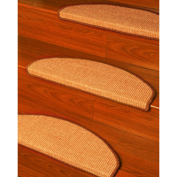 natural area rugs handcrafted ideal euro beige sisal carpet stair tread u00279 x 2 - Natural Area Rugs
