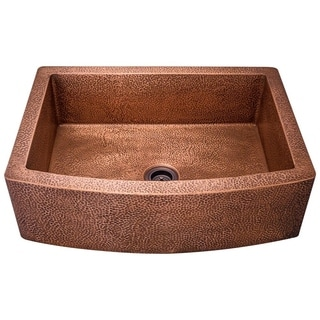 MR Direct 914 Single Bowl Copper Apron Sink