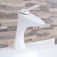 Elimax F662013WH White Bathroom Sink Faucet