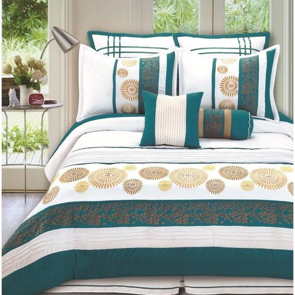 Fashion Street Citron 8-piece Comforter Set