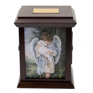 Sandra Kuck's Loving Embrace Wood Urn