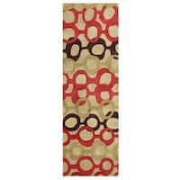 Alliyah Handmade Russet Brown New Zealand Blend Wool Rug (3' x 10')
