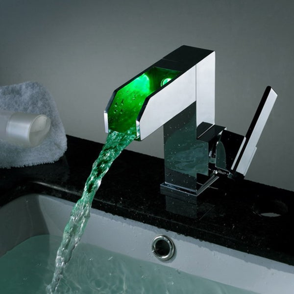 Shop Kokols Led Color Changing Waterfall Vessel Sink Faucet Free