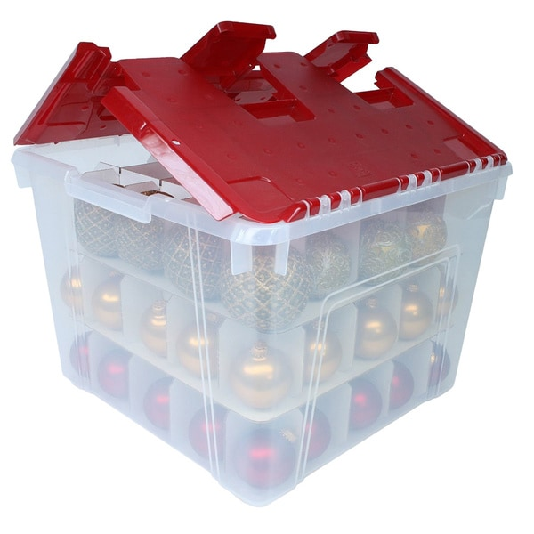 Shop Holiday Wing Lid Box With Ornament Dividers Free
