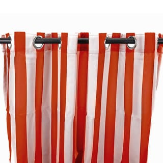 Link to Jordan Manufacturing Indoor/ Outdoor Striped 84-inch Curtain Panel Similar Items in Outdoor Decor