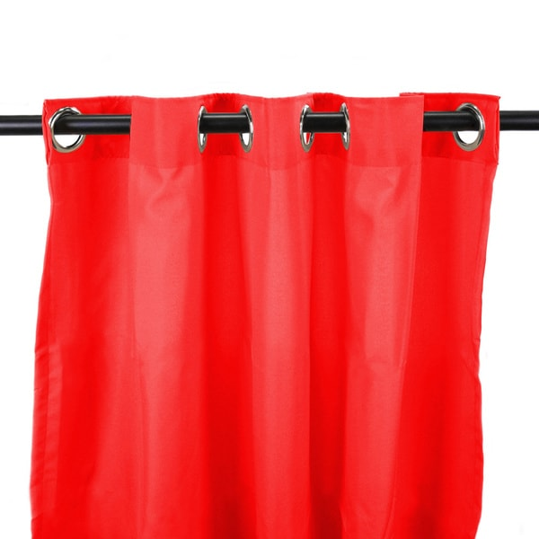Jordan Manufacturing Indoor/ Outdoor Solid 84-inch Curtain Panel - 54 x 84. Opens flyout.