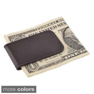 Zodaca Plain Black/ Brown Genuine 100-percent Leather Magnetic Slim Wallet Pocket Money Clip Holder (Option: Brown)