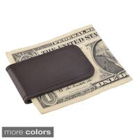 Zodaca Plain Black/ Brown Genuine 100-percent Leather Magnetic Slim Wallet Pocket Money Clip Holder