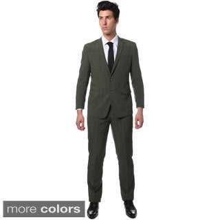 Zonettie by Ferrecci Men's Slim Fit Glen Plaid Check Suit