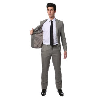 Zonettie by Ferrecci Men's Slim Fit Glen Plaid Check Suit