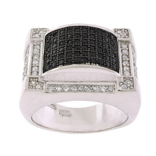 Sterling Silver Cubic Zirconia Men's Ring