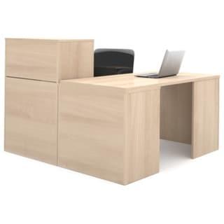 i3 by Bestar Closed Storage L-shaped Desk