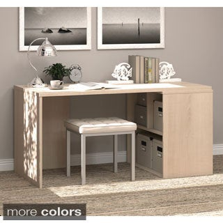 i3 by Bestar Hidden Storage Workstation Desk